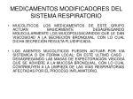 medicamentos modificadores del sistema respiratorio