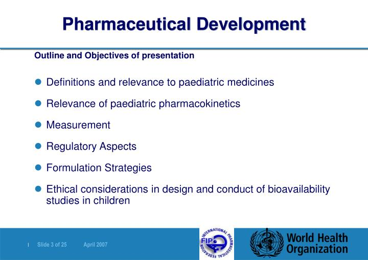Pharmaceutical development1