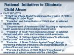 national initiatives to eliminate child abuse
