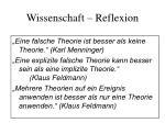 wissenschaft reflexion