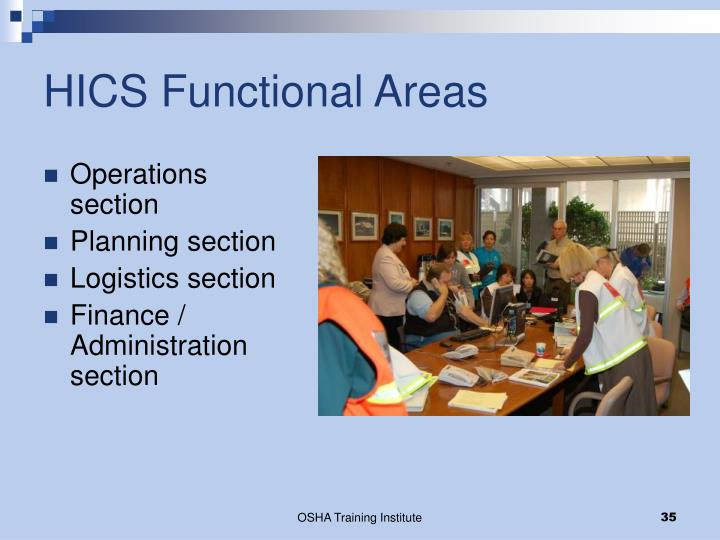 HICS Functional Areas
