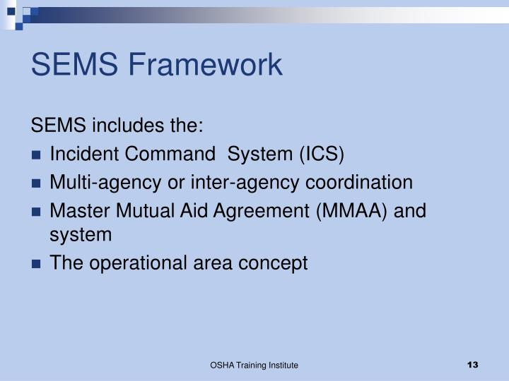 SEMS Framework
