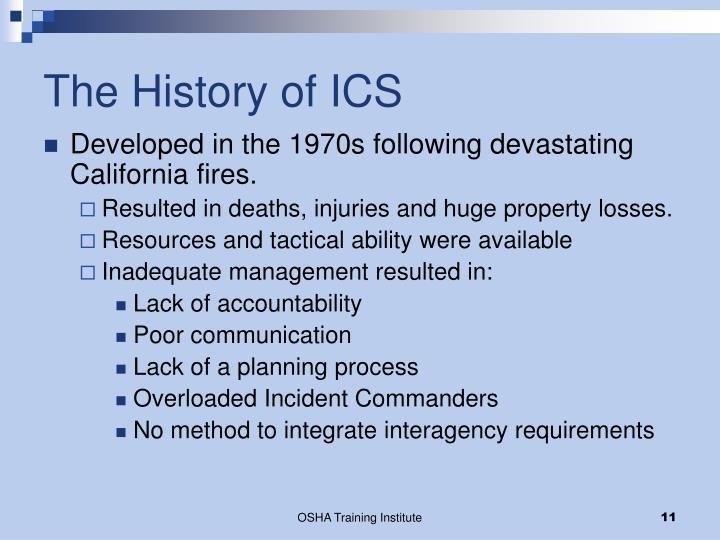 The History of ICS