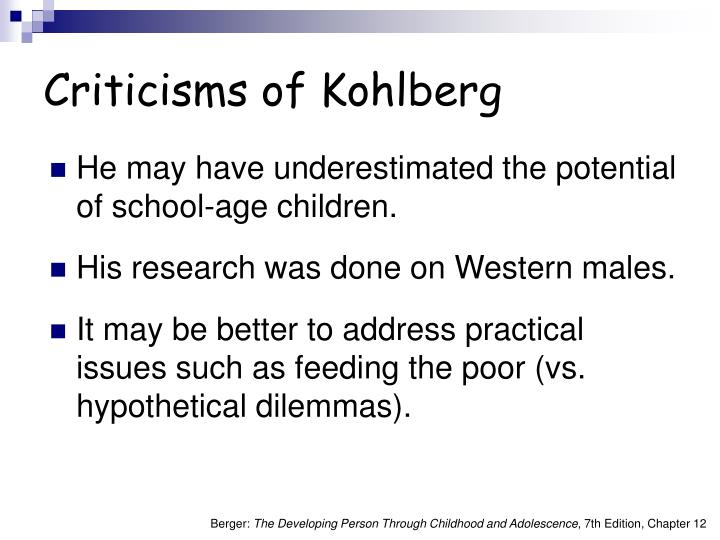 Criticisms of Kohlberg