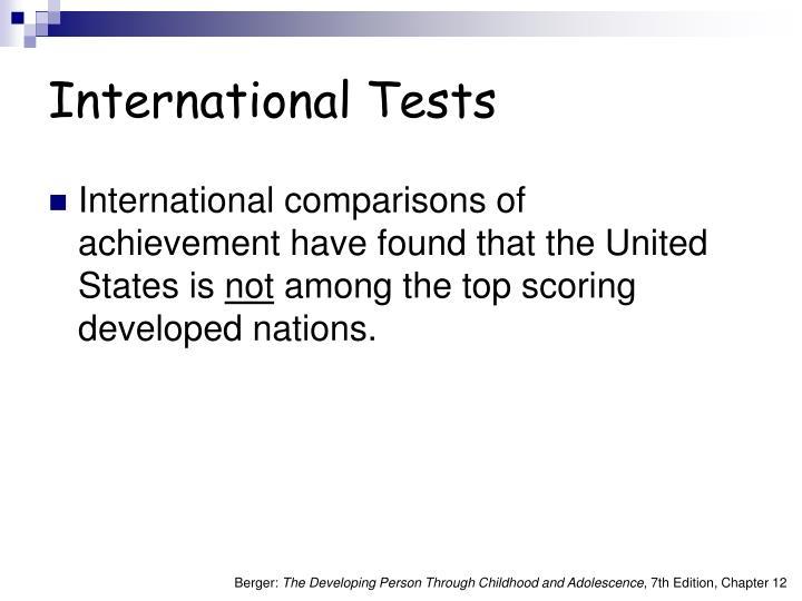 International Tests