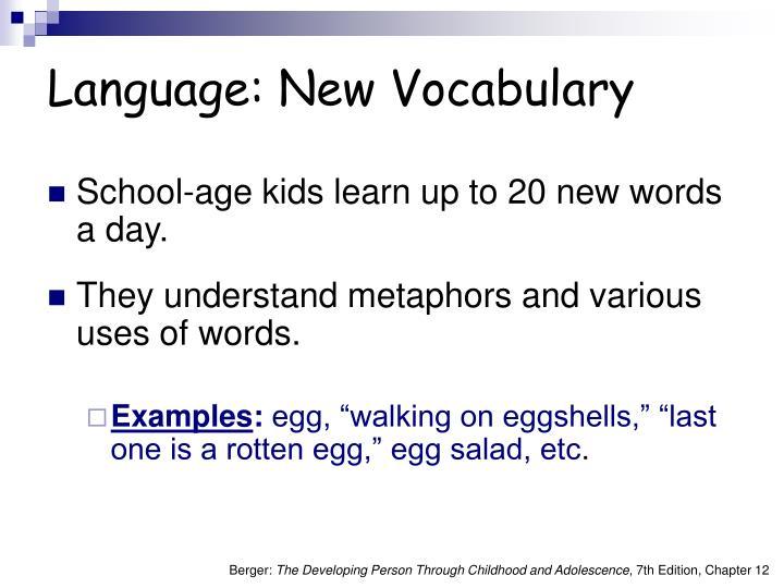 Language: New Vocabulary