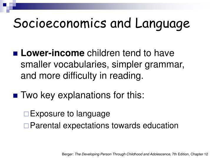 Socioeconomics and Language