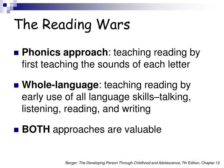 The Reading Wars