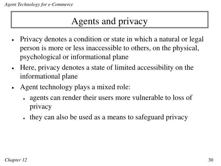 Agents and privacy