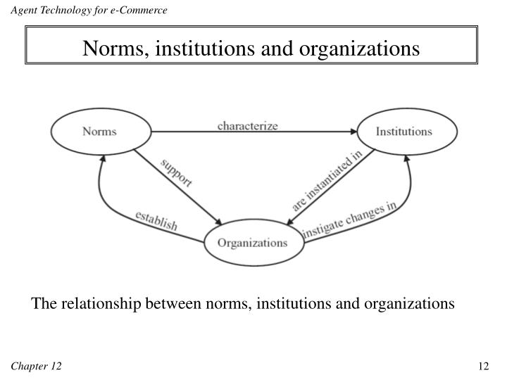 Norms, institutions and organizations