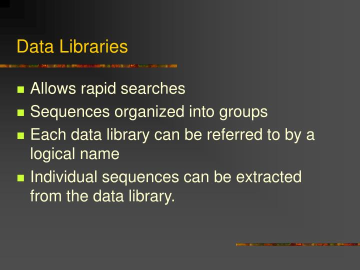 Data Libraries