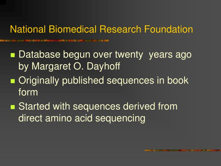 National Biomedical Research Foundation