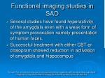 functional imaging studies in sad