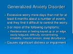 generalized anxiety disorder1