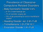 prevalence of obsessive compulsive related disorders