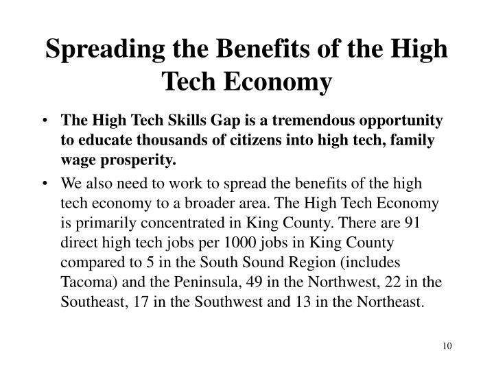 Spreading the Benefits of the High Tech Economy