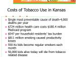 costs of tobacco use in kansas