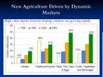 new agriculture driven by dynamic markets