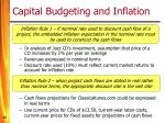 capital budgeting and inflation