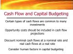 cash flow and capital budgeting1