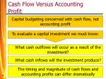 cash flow versus accounting profit