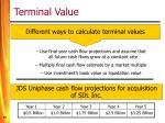 terminal value1