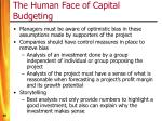 the human face of capital budgeting