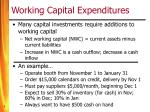 working capital expenditures