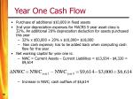 year one cash flow