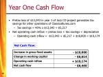 year one cash flow1
