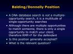 balding donnelly position