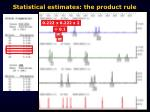 statistical estimates the product rule
