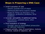 steps in preparing a dna case2