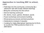 approaches to teaching esc in school cont