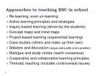 approaches to teaching esc in school