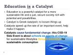 education is a catalyst