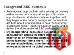integrated esc curricula