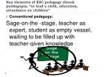key elements of esc pedagogy greek paidagogia to lead a child education attendance on children