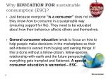 why education for sustainable consumption esc