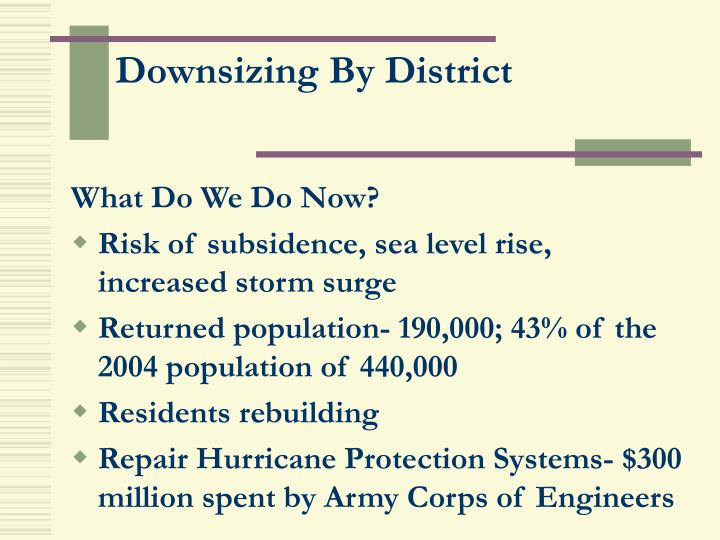 Downsizing By District