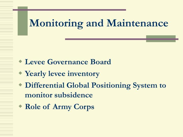 Monitoring and Maintenance