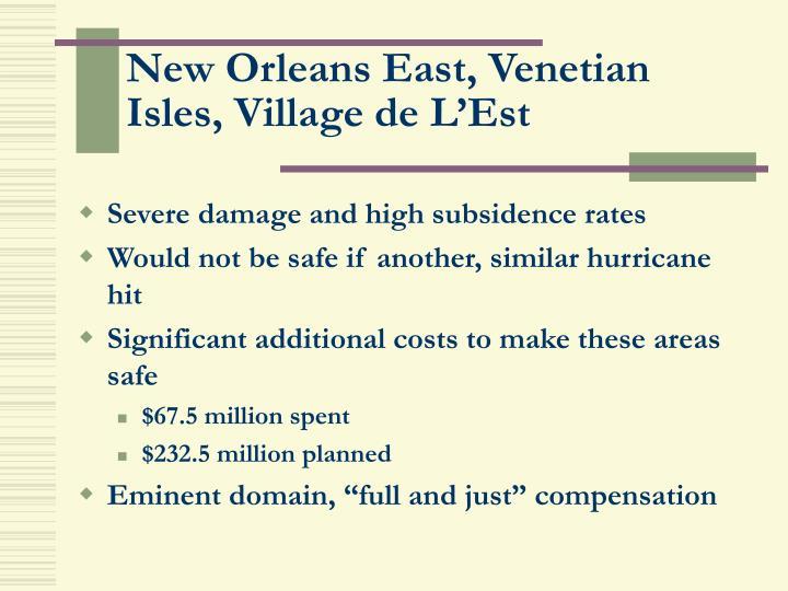 New Orleans East, Venetian Isles, Village de L'Est