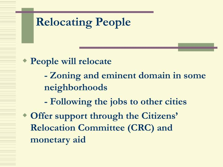 Relocating People