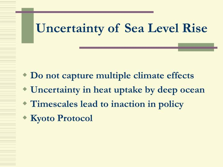 Uncertainty of Sea Level Rise
