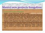 mantri new projects bangalore