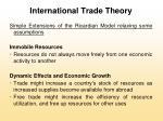 international trade theory17