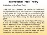 international trade theory29