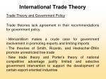 international trade theory37