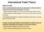 international trade theory9