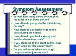 symptom assessment